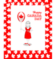Canada Day card vector image vector image
