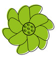 cartoon flower icon image vector image vector image