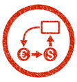 cashflow euro exchange rounded grainy icon vector image vector image