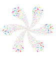 chemistry centrifugal flower with six petals vector image vector image