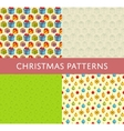 Christmas Colorful Seamless Patterns Set vector image vector image