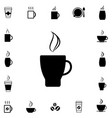 coffee cup icon collection vector image