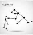 constellation aquarius zodiac sign vector image vector image