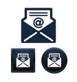 e-mail icon set isolated vector image vector image