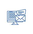 e mail line icon concept e mail flat vector image vector image