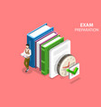exam preparation flat isometric concept vector image