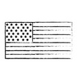 figure usa flag to celebrate holiday patriotic vector image