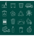 Garbage icons outline vector image vector image
