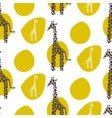 Giraffe seamless pattern Safari animal vector image vector image