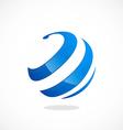 globe sphere curl communication logo vector image