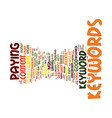 good keywords are crucial to adsense success text vector image vector image