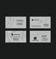 gray business cards set vector image vector image