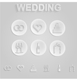 Gray icons for wedding vector image