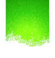 Green ornate background vector image vector image