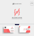 hashtag and programming code logo template vector image