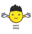 hippy emoji line icon sign vector image vector image