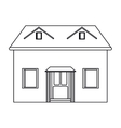 house facade loft outline icon vector image