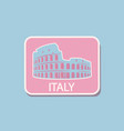 italy architecture sightseeing sticker rome vector image