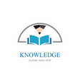 knowledge education logo vector image vector image