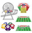 lottery machine with balls inside bingo cards and vector image vector image