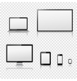 Modern digital devices templates vector image vector image
