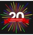 modern holiday anniversary invitation card vector image vector image