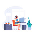 mother freelance worker female working home and vector image vector image