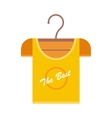 Orange T-shirt on Hanger vector image