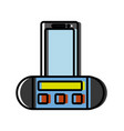 portable sound speaker icon vector image vector image