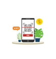 qrcode mobile payment technology isolated with vector image