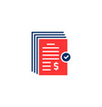 red and blue pile invoice bill logo vector image vector image