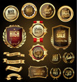 retro golden badge collection 4 vector image vector image