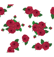 rose red seamless vector image vector image