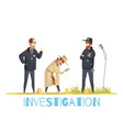 scene of crime composition vector image vector image
