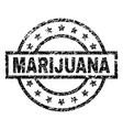 scratched textured marijuana stamp seal vector image