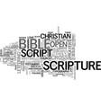 scripture word cloud concept vector image vector image