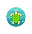 Sea turtle icon Summer Vacation vector image