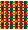 Seamless red yellow circles pattern vector image vector image