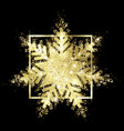 shiny gold glitter snowflake sparks vector image vector image