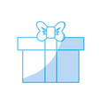 silhouette box of present gift with ribbon design vector image vector image