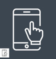 smartphone with hand vector image