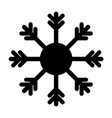 snowflake icon black on white background vector image vector image