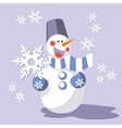 Snowman color 08 vector image vector image
