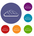 spring cloud icons set vector image vector image