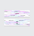 stock set of abstract web banners vector image