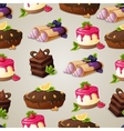 Sweets dessert seamless pattern vector image