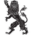the rebels lion - the heraldic symbol vector image vector image