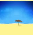tropical beach with bamboo umbrella vector image
