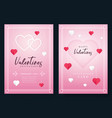 valentines day invitation vector image