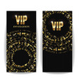vip invitation card sequins round dots vector image vector image